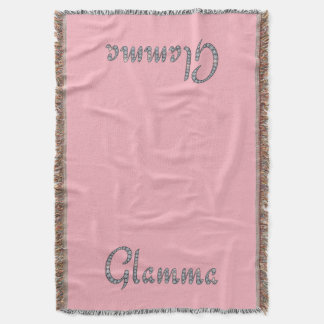 Glamma bling design throw blanket