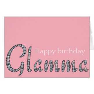 Glamma bling greeting card