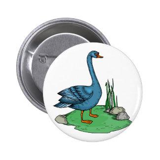Glamma Goose Pinback Button