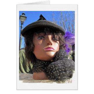 Glamor Lady Blank Card