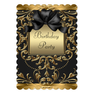 Glamorous Art Deco Birthday Party Card