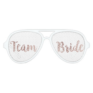 Glamorous Chic Rose Gold Team Bride Sunglasses