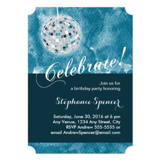Glamorous Disco Ball Birthday Party 13 Cm X 18 Cm Invitation Card