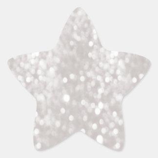 Glamorous elegant modern glittery holiday star sticker