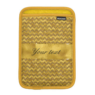 Glamorous Faux Gold Glitter Chevrons iPad Mini Sleeves