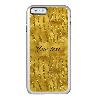 Glamorous Faux Gold Glitter Zebra Stripes Incipio Feather® Shine iPhone 6 Case