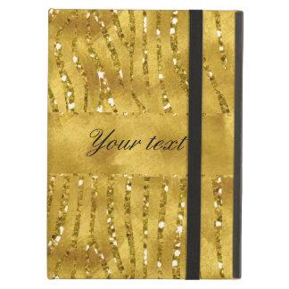 Glamorous Faux Gold Glitter Zebra Stripes iPad Air Cover