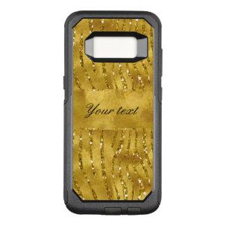 Glamorous Faux Gold Glitter Zebra Stripes OtterBox Commuter Samsung Galaxy S8 Case
