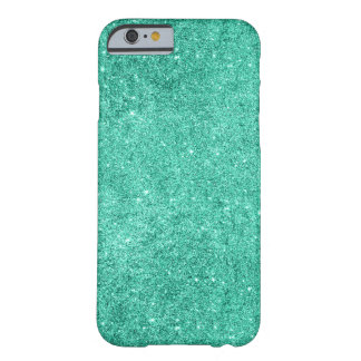 Glamorous Faux Turquoise Glitter Barely There iPhone 6 Case