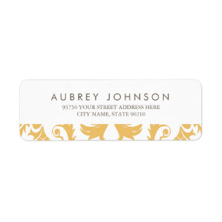 Glamorous Gold Address Labels