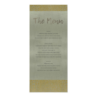 GLAMOROUS GOLD GREY DOTS MOSAIC MENU CARD