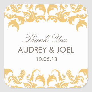 Glamorous Gold Wedding Favor Stickers