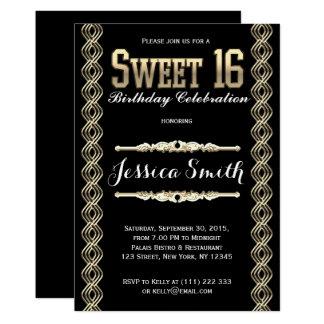 Glamorous Great Gratsby Sweet 16 Invite
