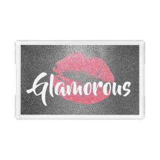 Glamorous Kiss Faux Glitter Tray