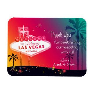 Glamorous Las Vegas Wedding Thank You Rectangular Photo Magnet