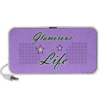 Glamorous Life Stars Doodle iPod Speakers