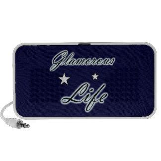 Glamorous Life Stars Doodle iPhone Speakers