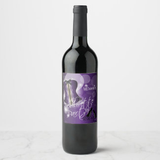 Glamorous Lingerie Bachelorette Party  | Purple Wine Label