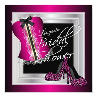 Glamorous Lingerie Bridal Shower | Pink 13 Cm X 13 Cm Square Invitation Card