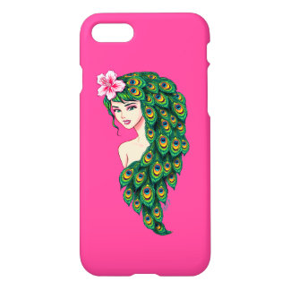 Glamorous Peacock Goddess Art iPhone 7 Case