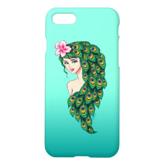 Glamorous Peacock Goddess Art iPhone 7 Slim Case