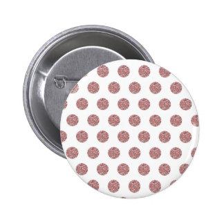 Glamorous Pink Poka Dots Pinback Button