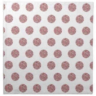 Glamorous Pink Poka Dots Cloth Napkins