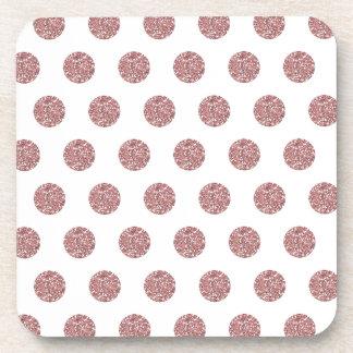 Glamorous Pink Poka Dots Coasters