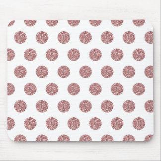 Glamorous Pink Poka Dots Mousepads