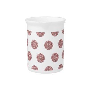 Glamorous Pink Poka Dots Beverage Pitchers