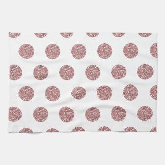 Glamorous Pink Poka Dots Kitchen Towel