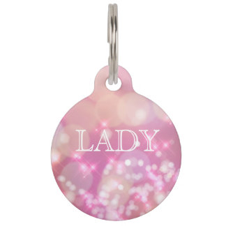 Glamorous Pink Sparkles | Personalized Pet Tag