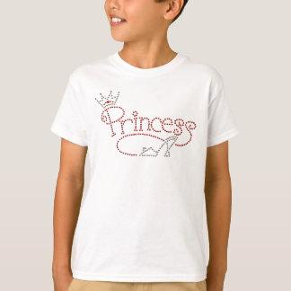 Glamorous Princess Crown & High Heel Shoe T-Shirt