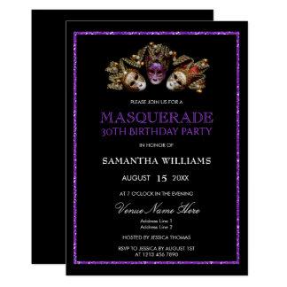 30th Birthday Masquerade Party Invitations & Announcements ... - photo#30