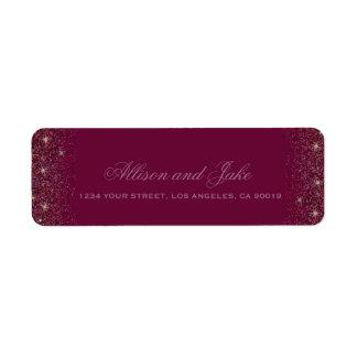 Glamorous Red Glitz Glitter Address Labels