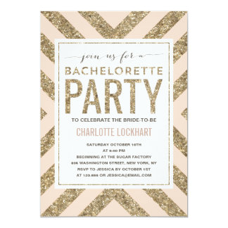 Glamorous Shimmer | Bachelorette Party Invitation