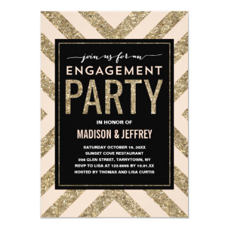 Glamorous Shimmer | Engagement Party Invitation