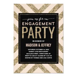 Glamorous Shimmer   Engagement Party Invitation