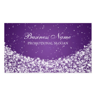 Glamorous Star Sparkle Purple Pack Of Standard Business Cards
