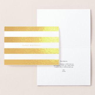 Glamorous Stripe Foil Birthday Card