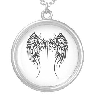 glamorous Tribal design Round Pendant Necklace