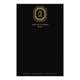 Glamorous Vintage Gold Art Deco Initials Monogram 14 Cm X 21.5 Cm Flyer