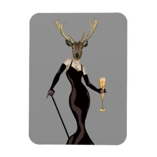 Glamour Deer in Black 3 Rectangular Photo Magnet