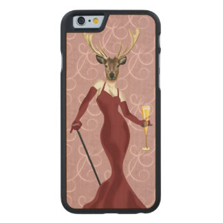 Glamour Deer in Marsala 2 Carved® Maple iPhone 6 Slim Case