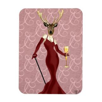Glamour Deer in Marsala 2 Rectangular Photo Magnet