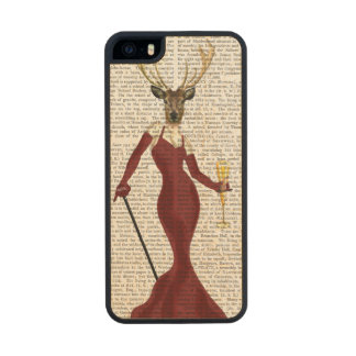 Glamour Deer in Marsala Wood iPhone SE/5/5s Case