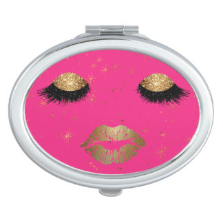 Glamour Eyes and Lips Compact Mirror