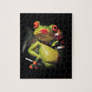 Glamour Frog Smoke Jigsaw Puzzle
