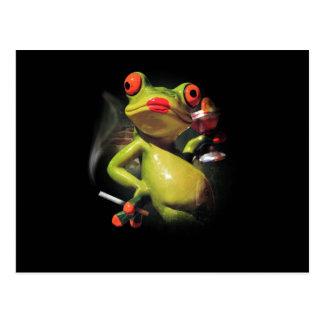 Glamour Frog Smoke Postcard