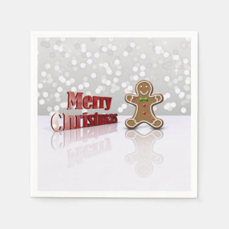 Glamour Gingerbread Christmas Man - Paper Napkin